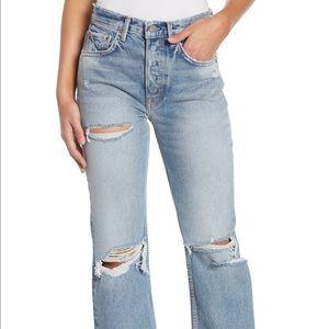 GRLFRND High Rise Linda Jeans Size:26 100% cotton